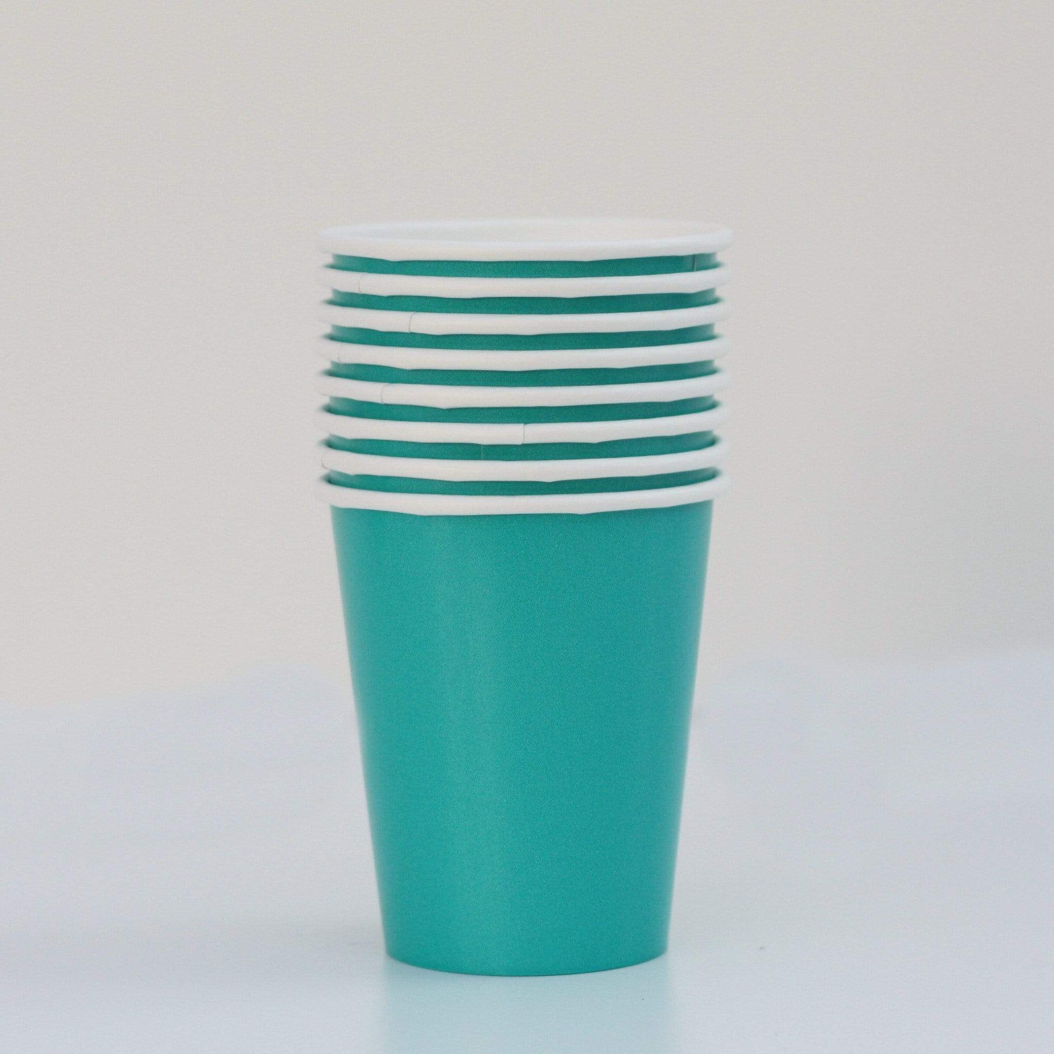 Teal Turquoise Paper Cups