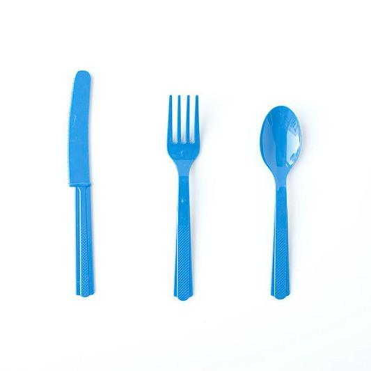 Plastic Cutlery: Blue (18 piece set)