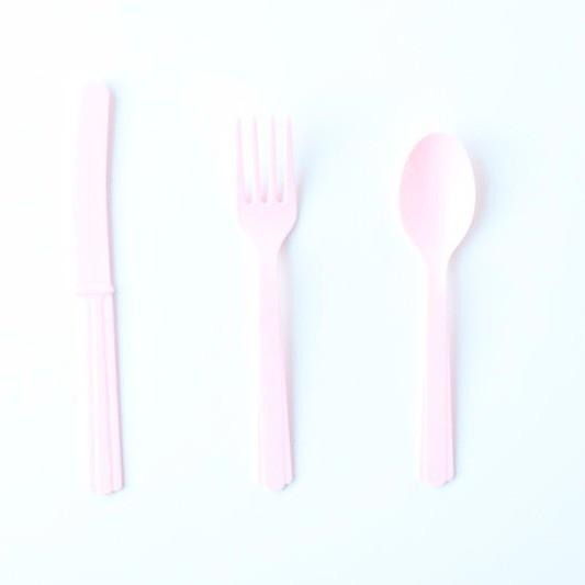 Pink Plastic Cutlery | Party Cutlery