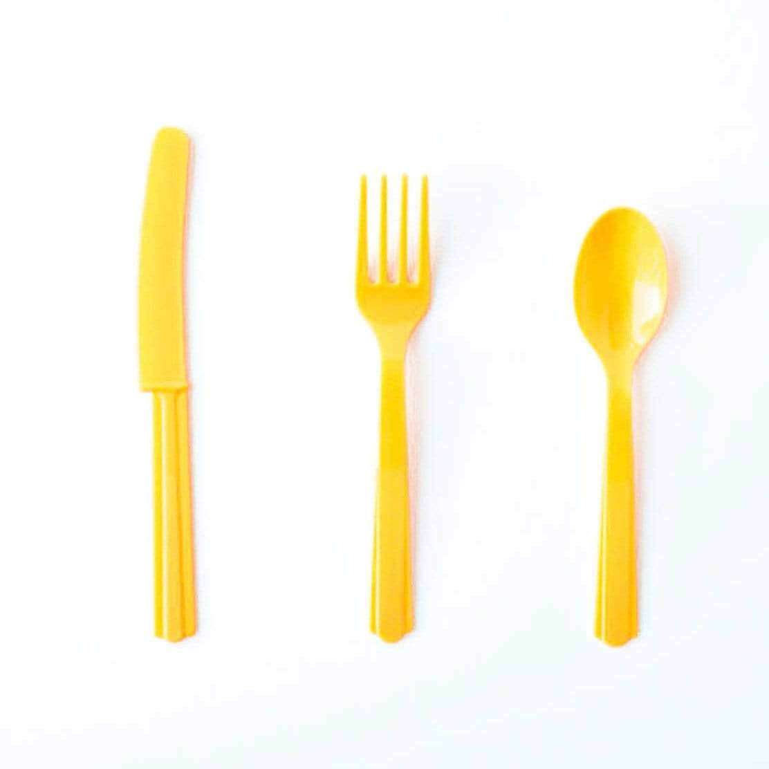 Sunshine Yellow cutlery