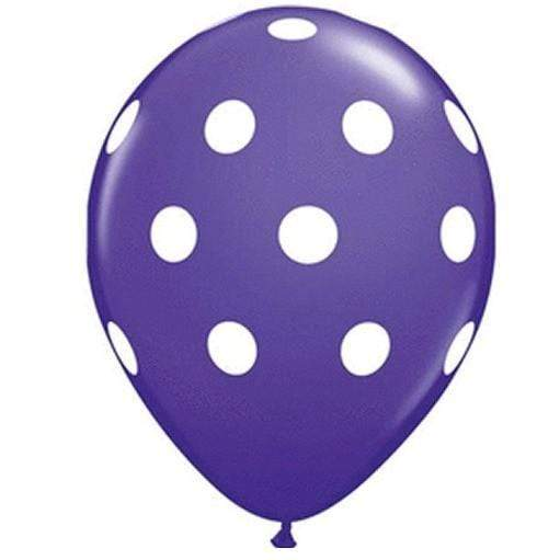 Polka Dot Balloons Purple (5 Pack)