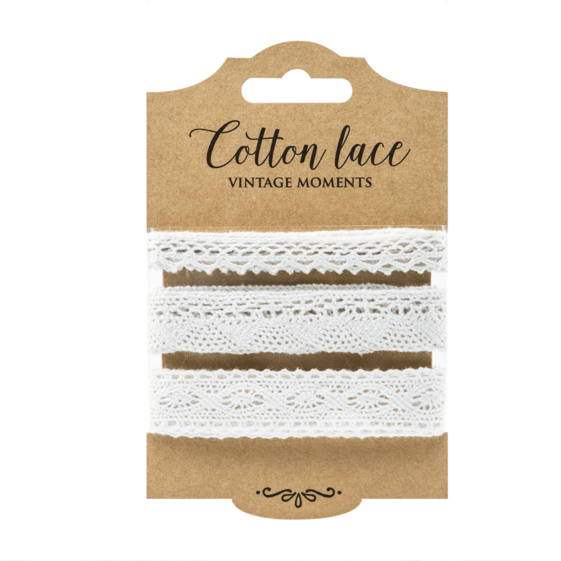 Pretty Cotton Lace Ribbons (3 Pack)