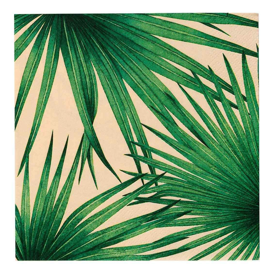 Palm Print Party Napkins | Paper Napkins | Talking Tables Napkins | Jungle Themed Parties