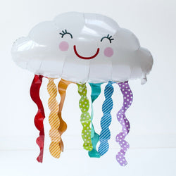 Cute Cloud Balloons | Rainbow Cloud Foil Balloon | Cloud Helium Balloon