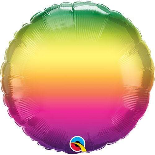 Bright Rainbow Ombre Foil Helium Balloon