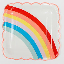 Rainbow Party Plates (12 pack)