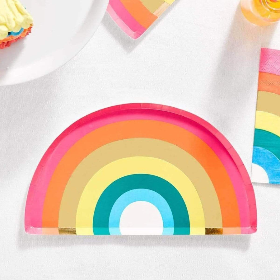Rainbow Shape Party Plates (12 Pack)