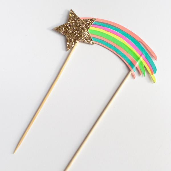 Rainbow cake topper | Cake decoration | Meri Meri | Rainbow party supplies