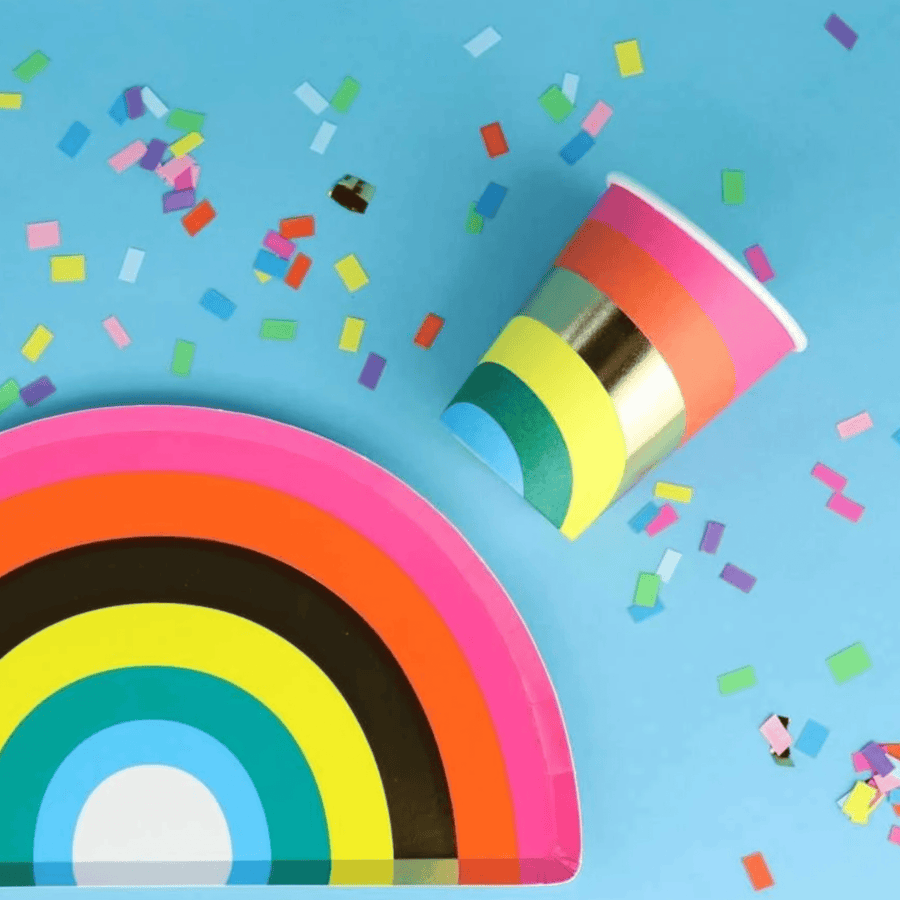 Rainbow Party Cups | Talking Tables UK