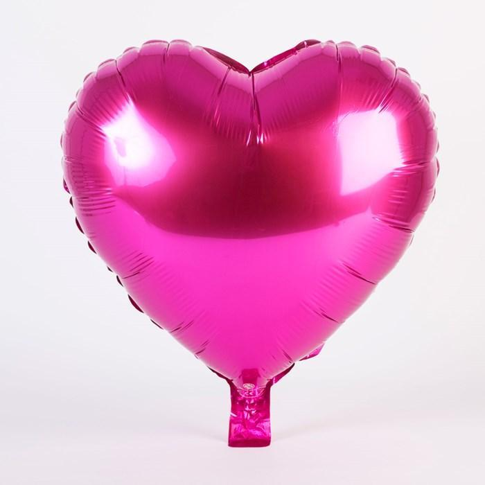 Raspberry Pink Heart Foil Balloon 18""