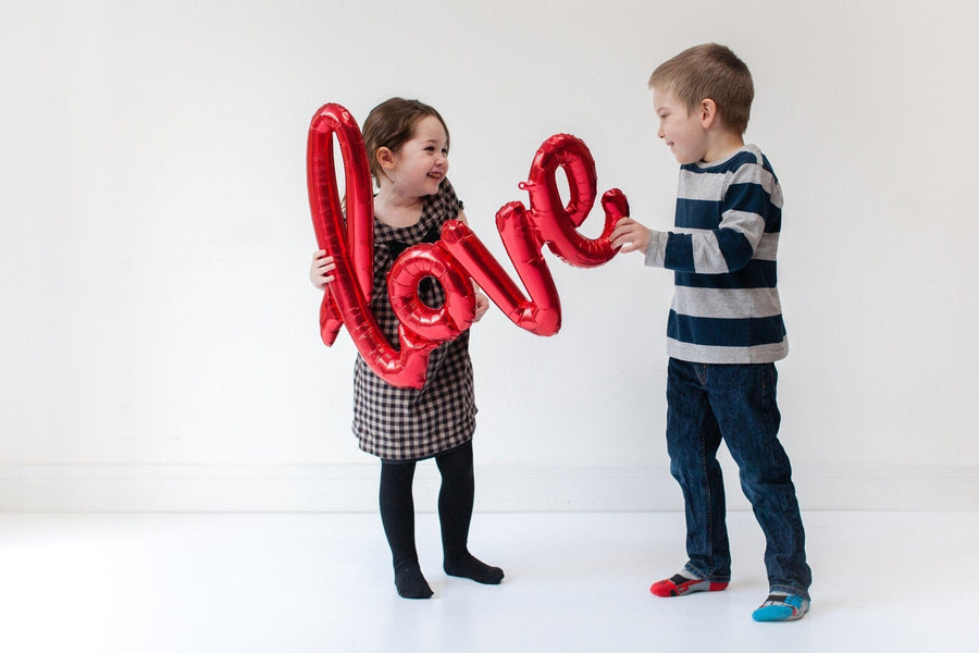 red Love Script Balloons | Giant Helium Filled Balloons | Fun Foil Shape Balloons | Northstar