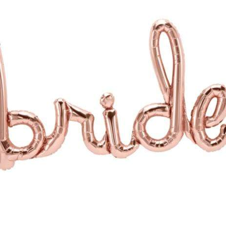 Bride Script Balloon Rose Gold | Beautiful Wedding Balloons