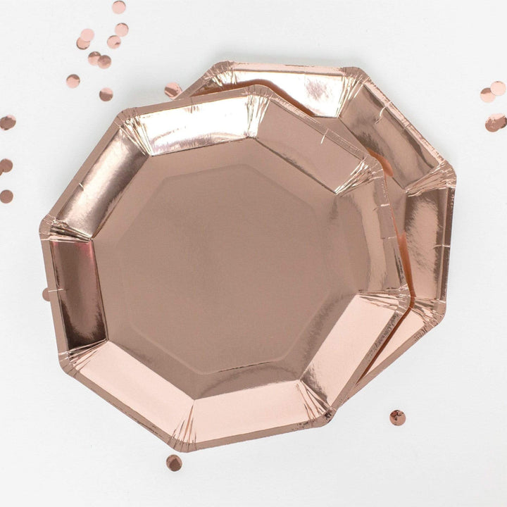 Rose Gold Paper Party Plates | Ginger Ray | UK Party Supplies | Rose Gold Party Ideas