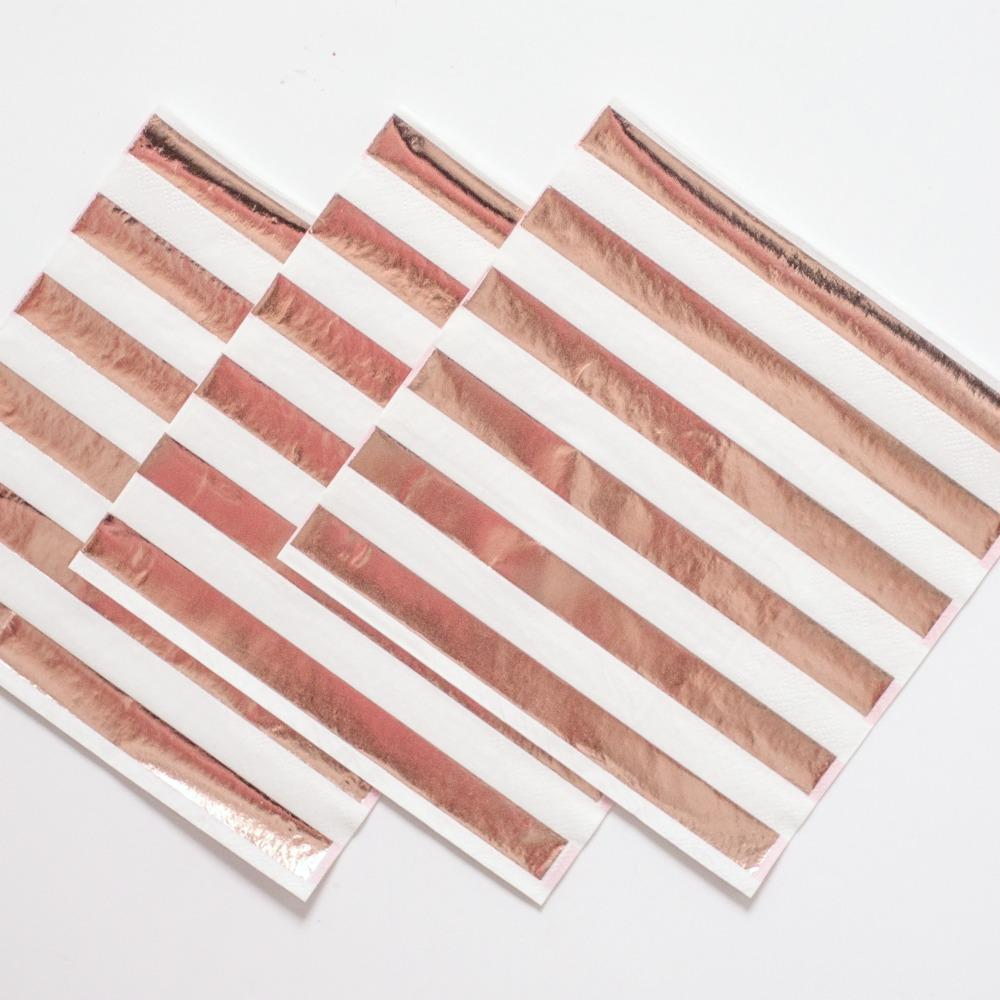 Rose Gold Foil Party Napkins | Stylish Party Supplies UK