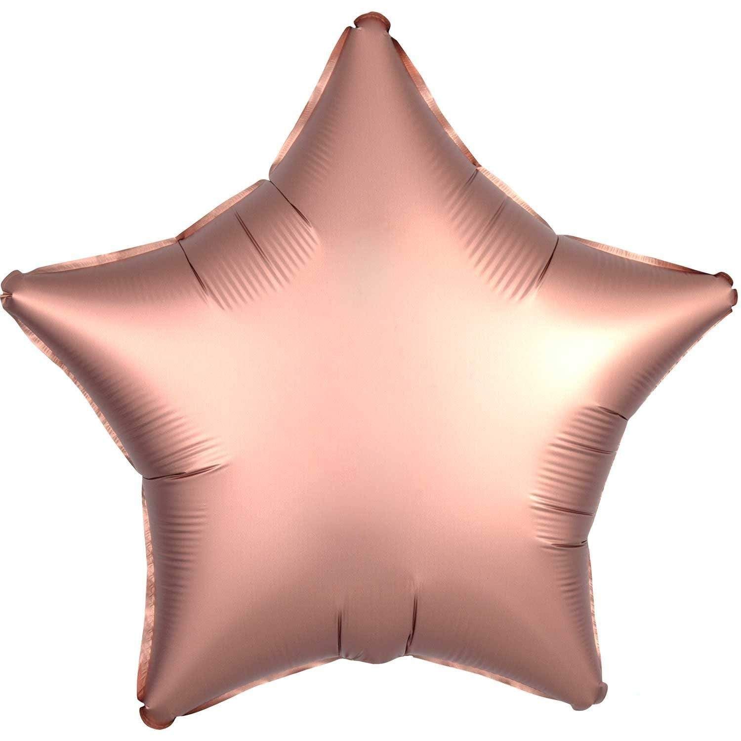 satin Foil Balloon - Rose Gold Star