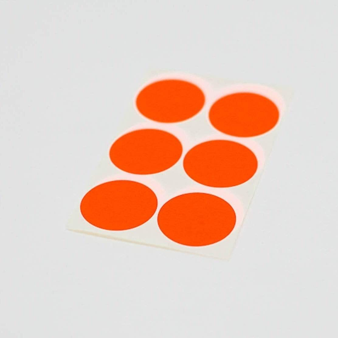 Neon Orange Stickers