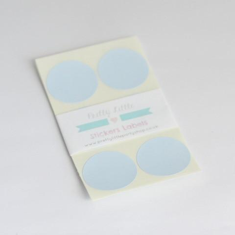 Blue Round Sticker Label
