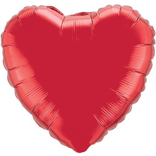 Ruby Red Heart Foil Balloon 18