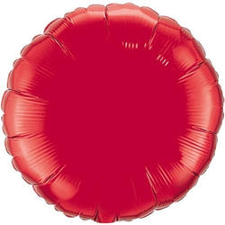 Ruby Red Round Foil Balloon 18""