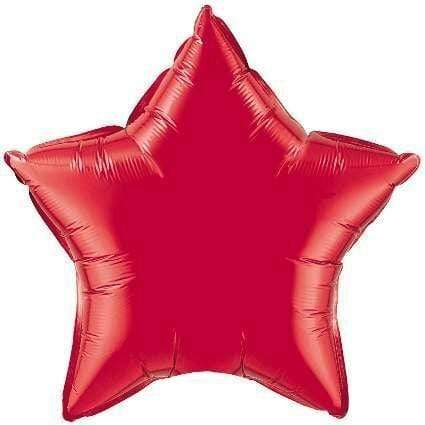 Ruby Red Star Foil Balloon 20