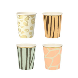 Safari Animal Print Party Cups | Meri Meri Safari Party UK