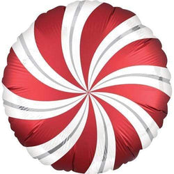 Satin Candy Swirl Balloon - Red