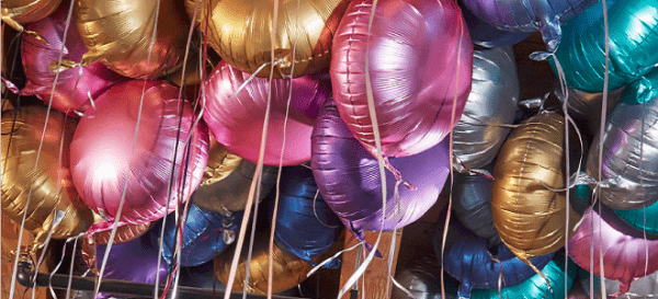 Satin Heart Balloon - Gold
