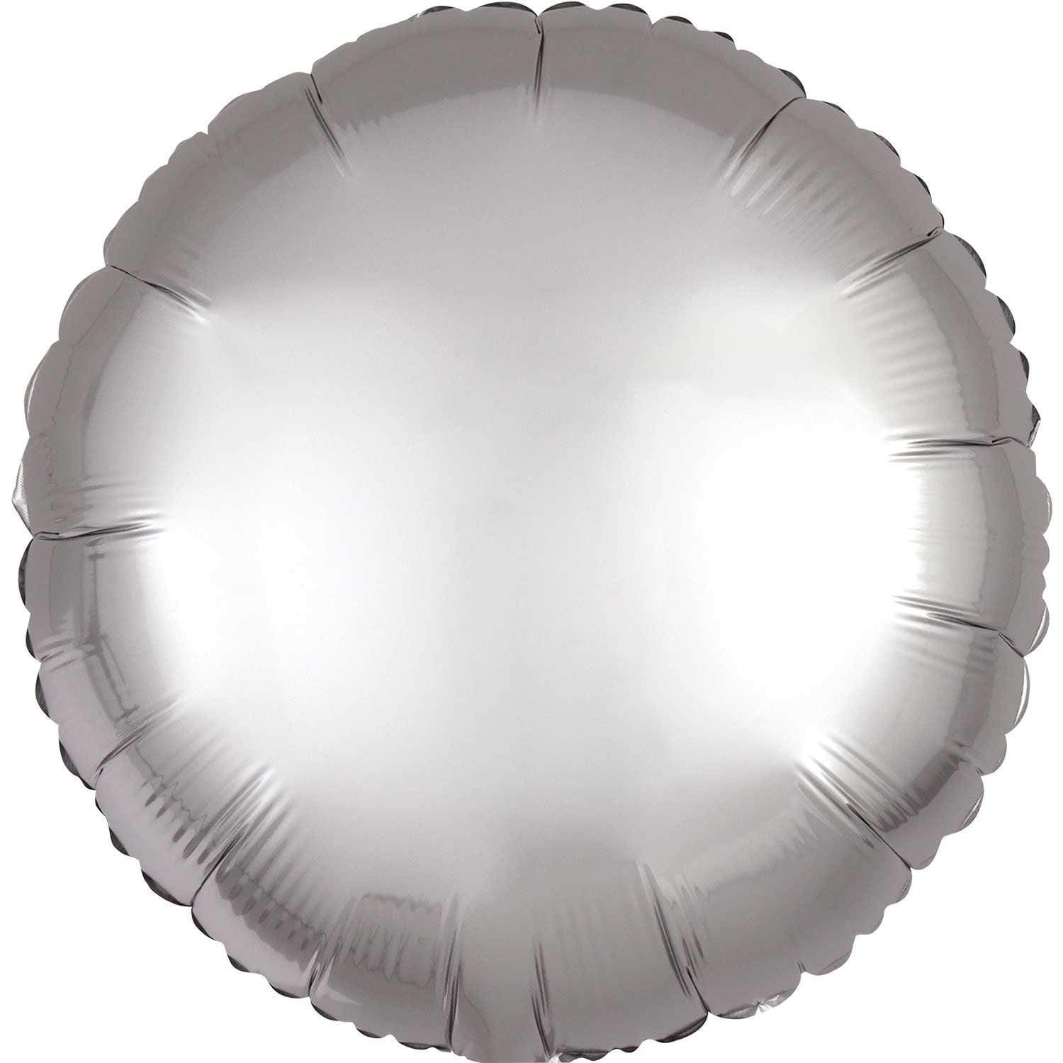 Silver Satin Foil Balloon