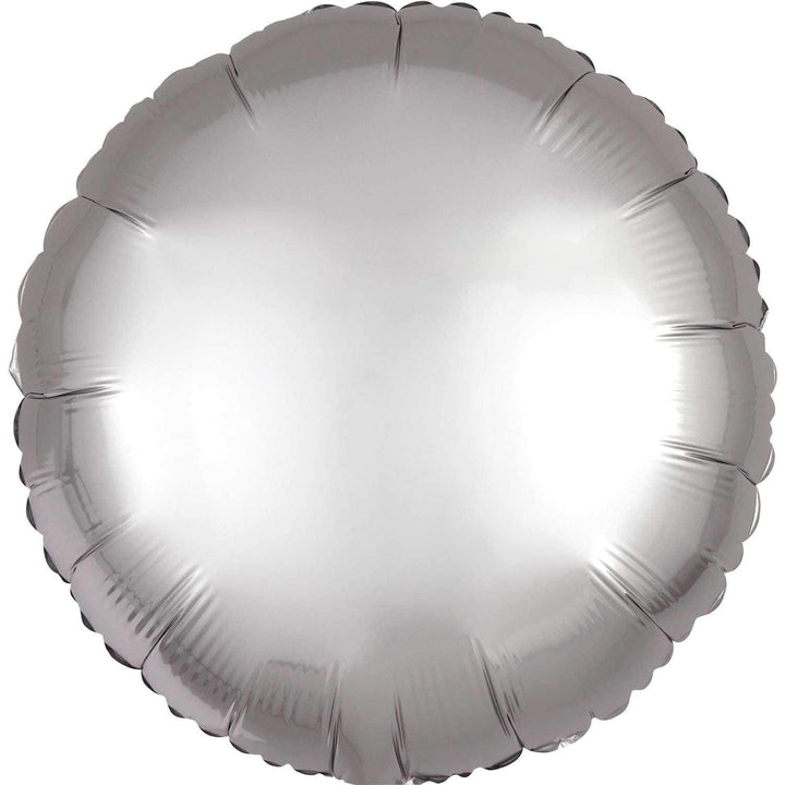Satin Round Balloon - Platinum Silver