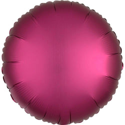 Satin Round Balloon - Pomegranate Pink