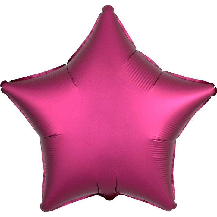 Satin Star Balloon - Pomegranate Pink