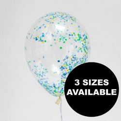 Seaside Sprinkle Confetti Filled Balloons