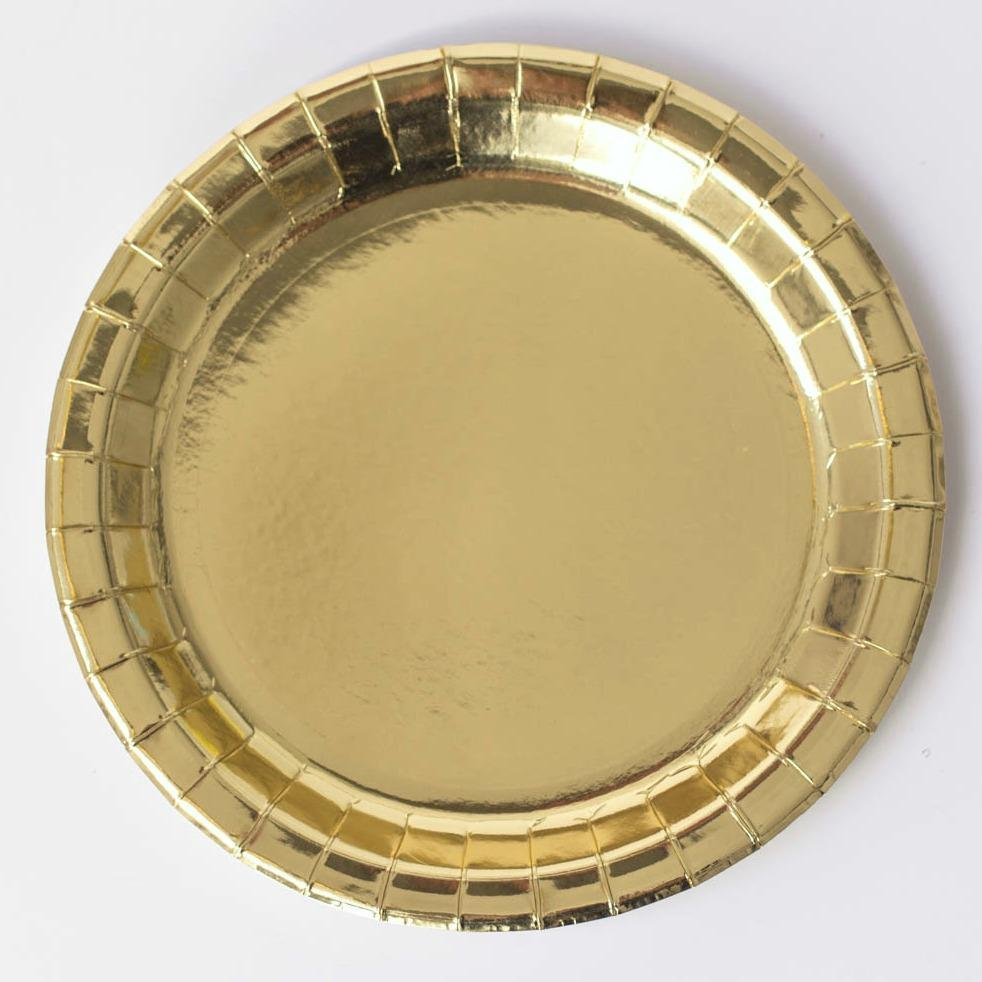 Gold Shiny Paper Plates