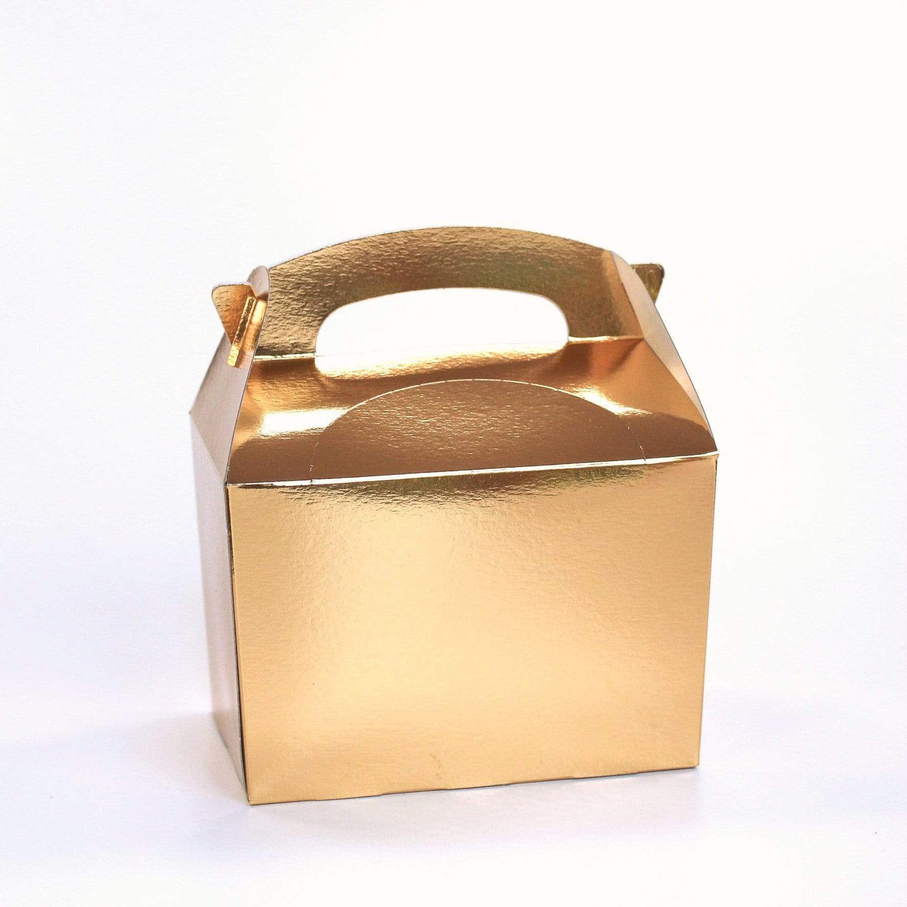 Gold Party Lunch Box | Coloured Party Boxes UK