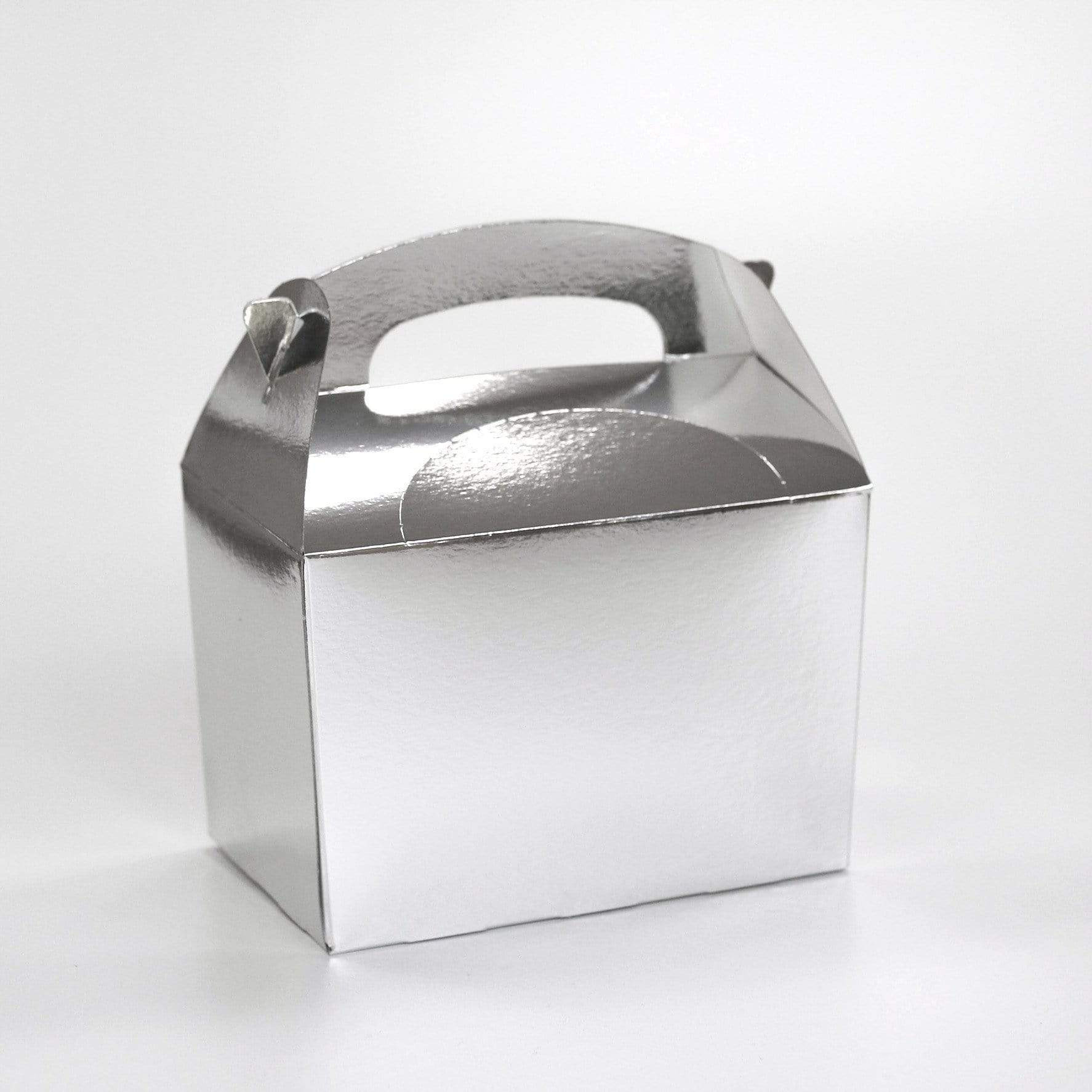 Silver Party Lunch Box | Coloured Party Boxes UK