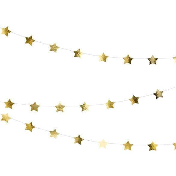 Shiny Star Garland - Gold
