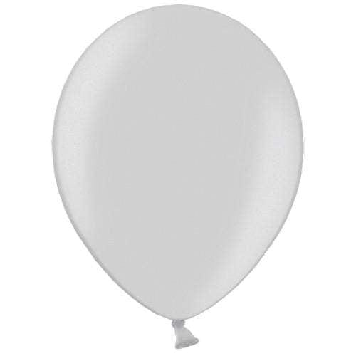 Silver Party Balloons | Helium Filled Balloons | Latex Party Balloons | Silver Party Balloons