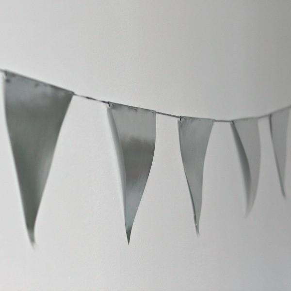Silver Paper Bunting