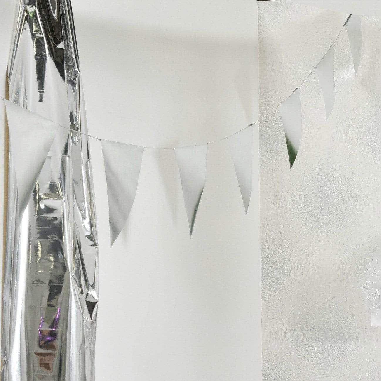Silver Paper Bunting Garland