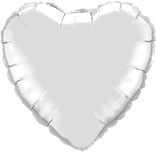 Silver Heart Balloon | Modern Party Balloons Online