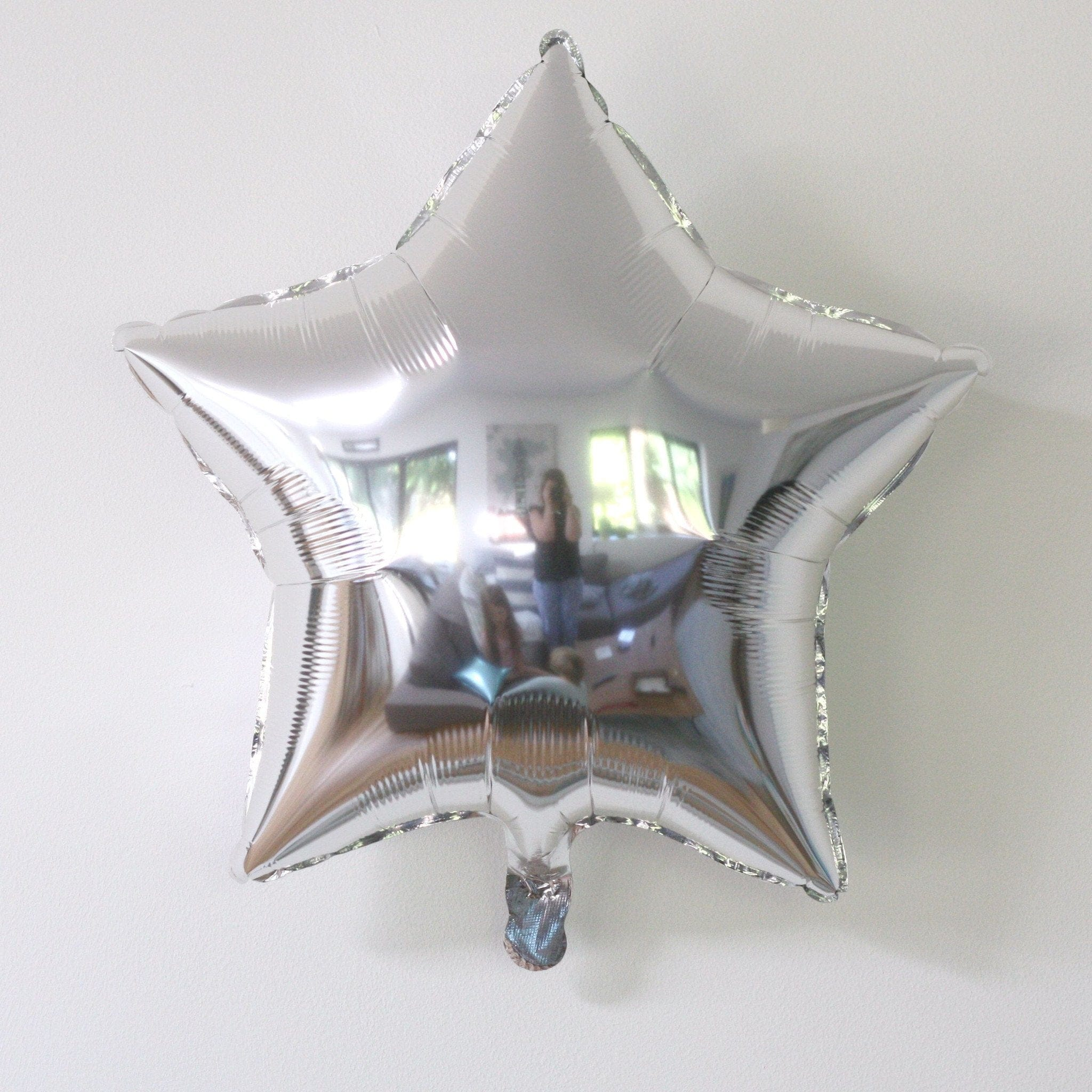 Silver Star foil Balloon | Helium Balloons Online
