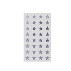 Silver Star Sticker Labels For Gifting and Party Bags