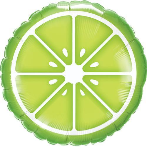 Slice of Lime Foil Balloon