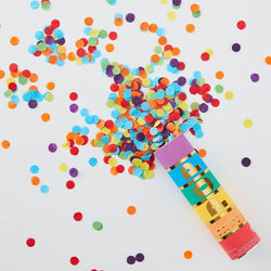 Small Confetti Cannon - Rainbow