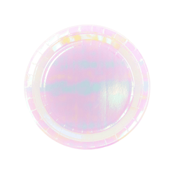 Small Iridescent Pastel Plates (6 Pack)