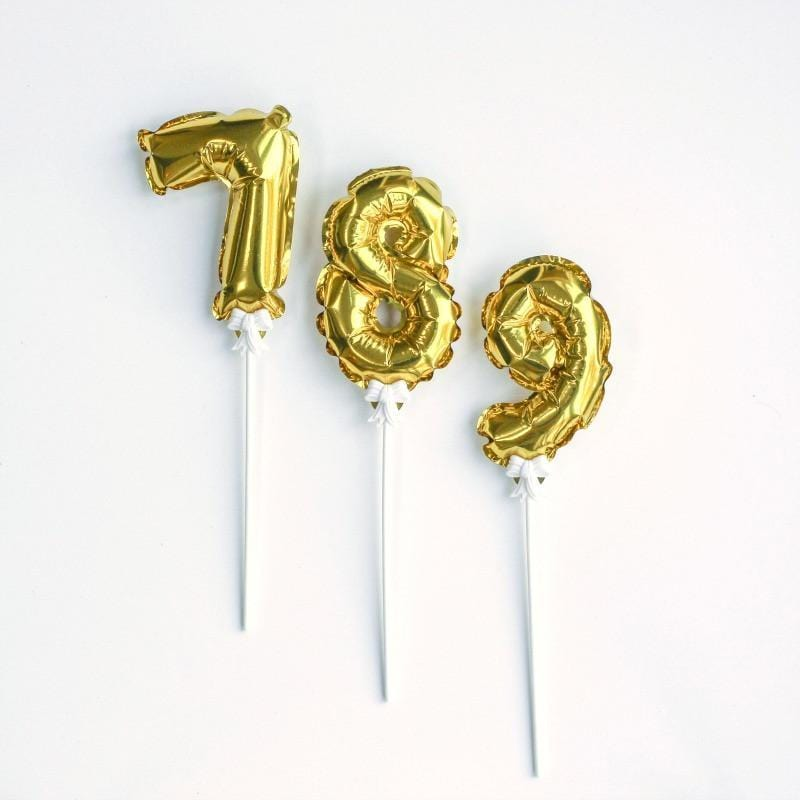 Balloon Numbers on Sticks for Cakes and Table Numbers