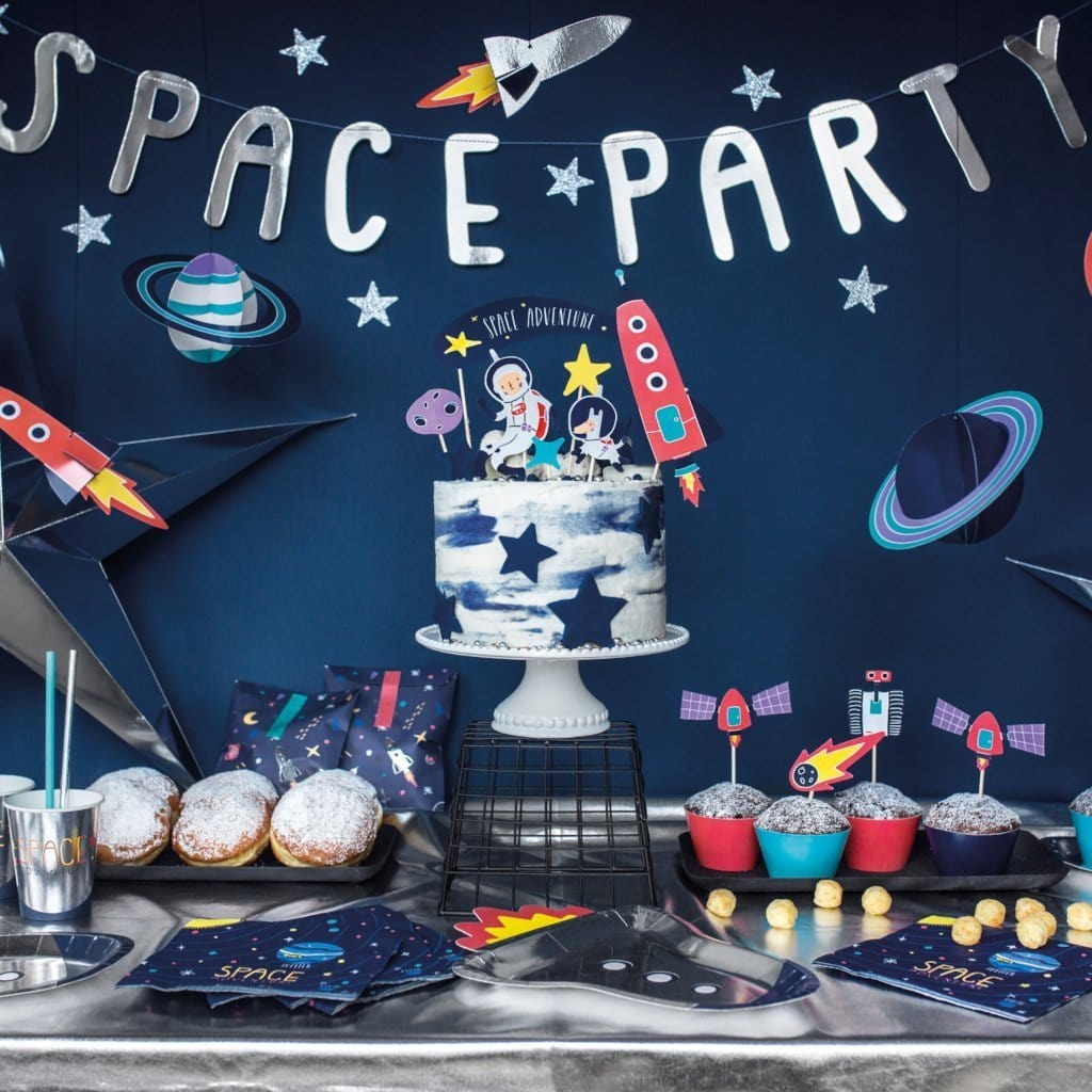 Space Party Banner Decoration