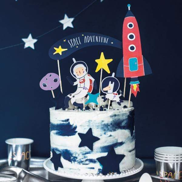 Space Party Cake Topper Decorations