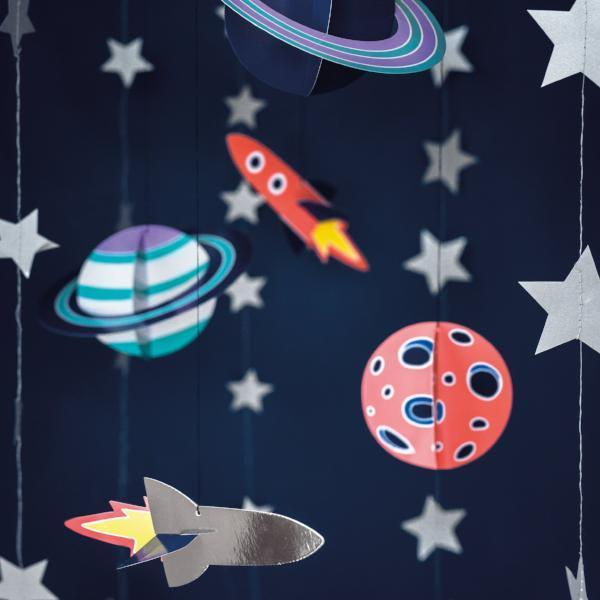 Space Party Hanging Decorations | Kids Space theme Party