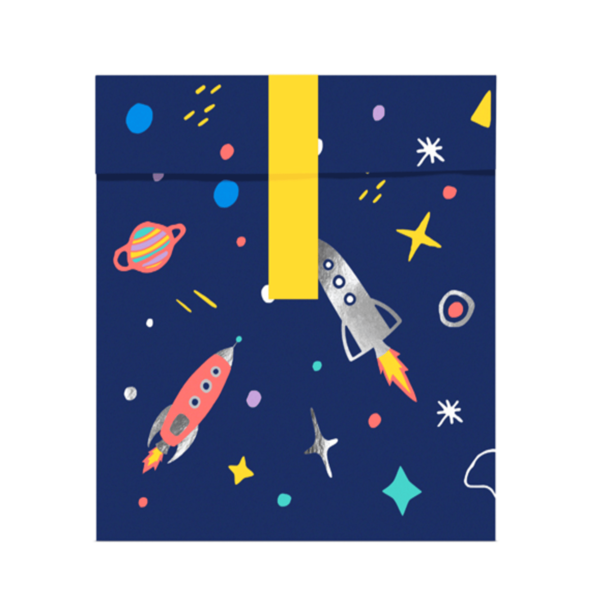 Space Party Treat Bags & Stickers